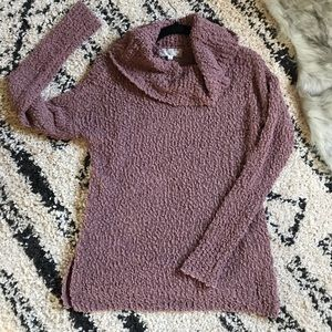 Blush/rose cable knit sweater NWOT